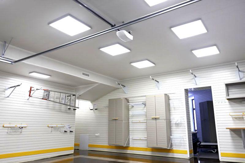 Всестороннее освещение в гаражном помещении
