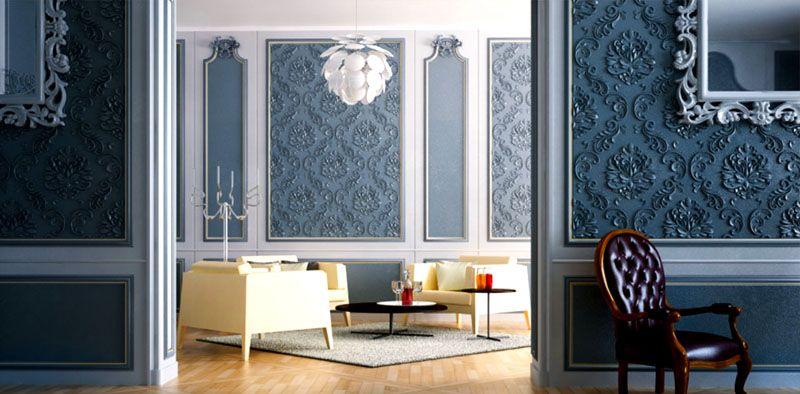 Чтобы создать роскошный интерьер в классическом стиле не обязательно приобретать дорогостоящие материалы - можно выбрать панели необычной формы