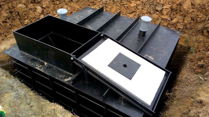 Пластиковые кессоны для погреба своими руками