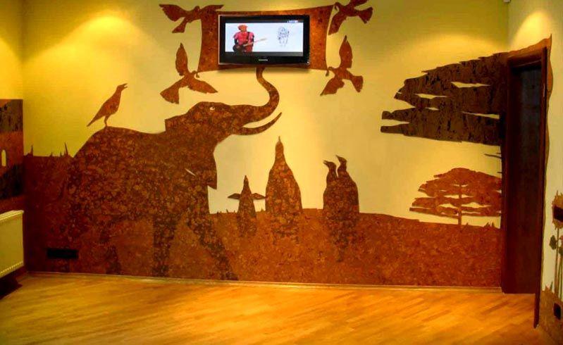Оригинальный декор может стать основным украшением помещения
