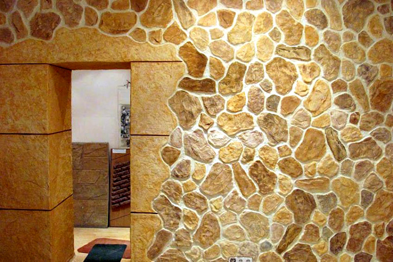 Плиточный материал с имитацией под камень