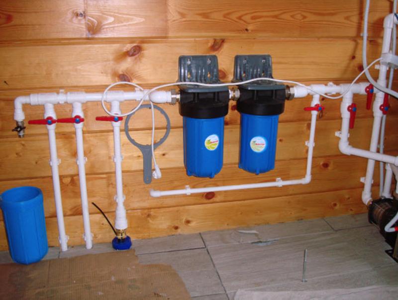 Проточные фильтры для воды в частном доме