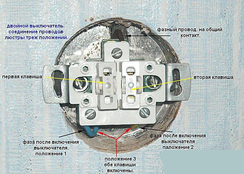 Схема подсоединения выключателя к TN-S системе