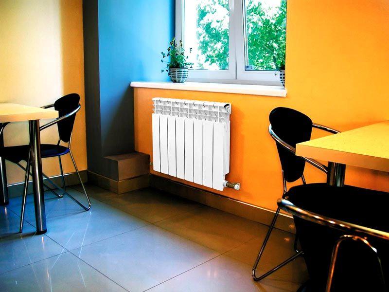 Алюминиевые радиаторы можно крепить на любых стенках