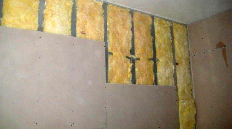 Использование материала в утепляющей конструкции