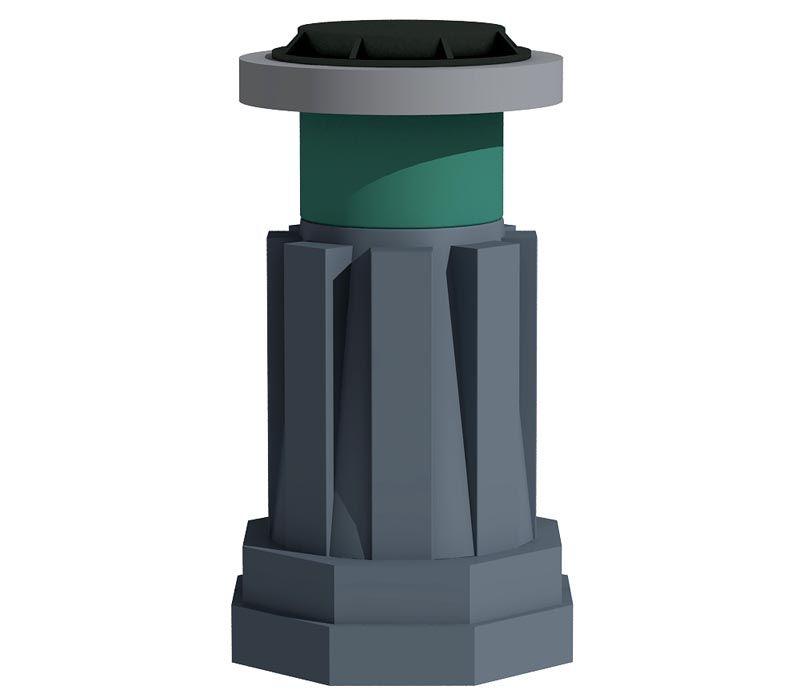 Для сборки из отдельных компонентов кроме основной трубы понадобится горловина с крышкой