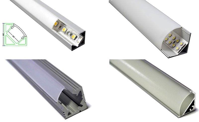 Угловой кабель канал с прозрачной крышкой применяют для монтажа подсветки из светодиодных лент