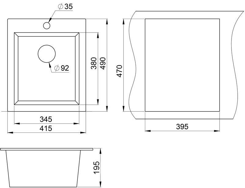 Размеры раковины для кухни