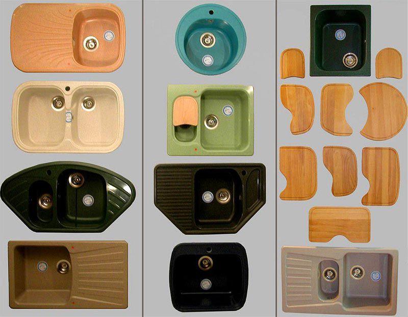 Особенности производства объясняют разнообразие раковин для кухни из искусственного камня