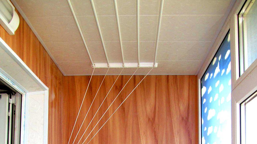 потолочная сушилка для белья на балкон выбор и изготовление