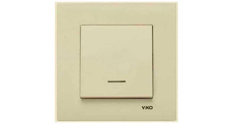 Выключатель в белом или кремовом цвете