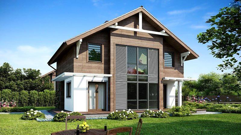 Индивидуальный проект каркасного двухэтажного дома