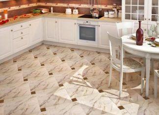 Плитка на пол для коридора и кухни: фото