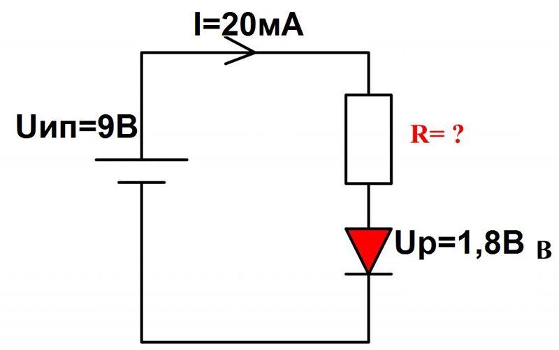 Минимальное электрическое сопротивление светодиодов заставляет применять в обязательном порядке защитные средства. Для ограничения силы тока при подключении к источнику питания надо обязательно использовать резистор