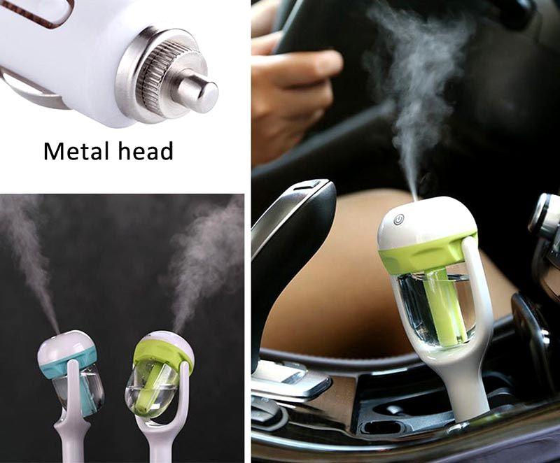 Автомобильные воздухоочистители-увлажнители работают от обычного прикуривателя или батареек