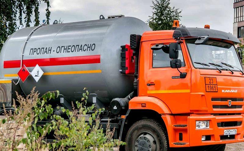 Для доставки газовой смеси частным потребителям применяют специальную технику