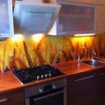 Фартук для кухни из стекла: фото-каталог и лучшие идеи дизайнеров