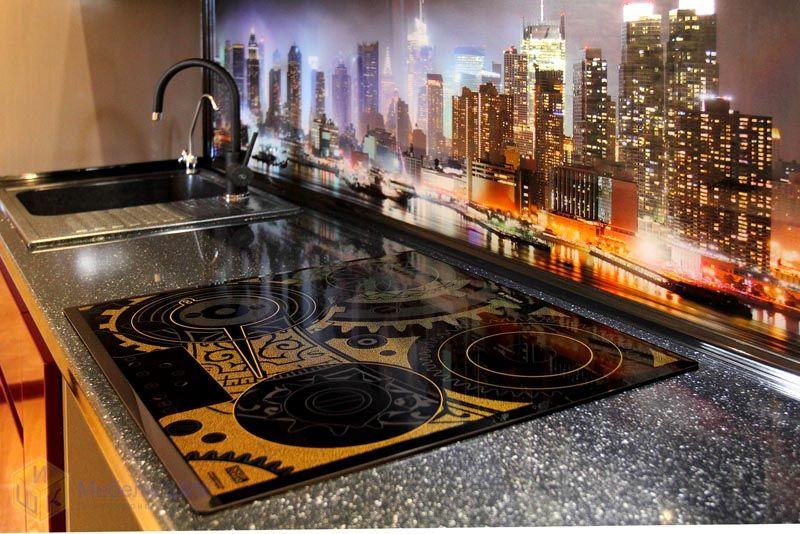 Фотопечать на кухонные фартуки город