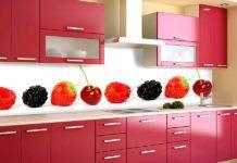Фартук для кухни из стекла: фото каталог