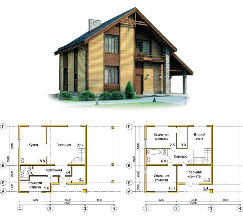 Планировка здания по каркасной технологии