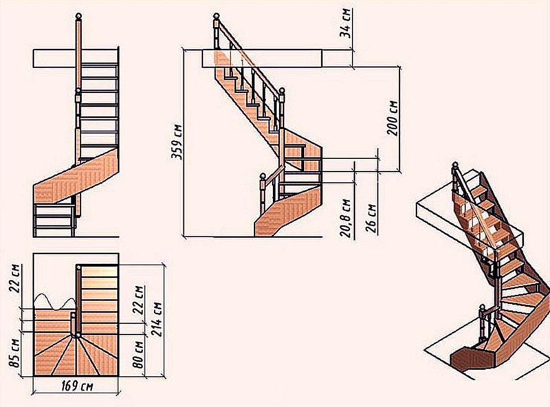 Полный чертеж конструкции поможет в монтаже и начинающему мастеру, и профессионалу