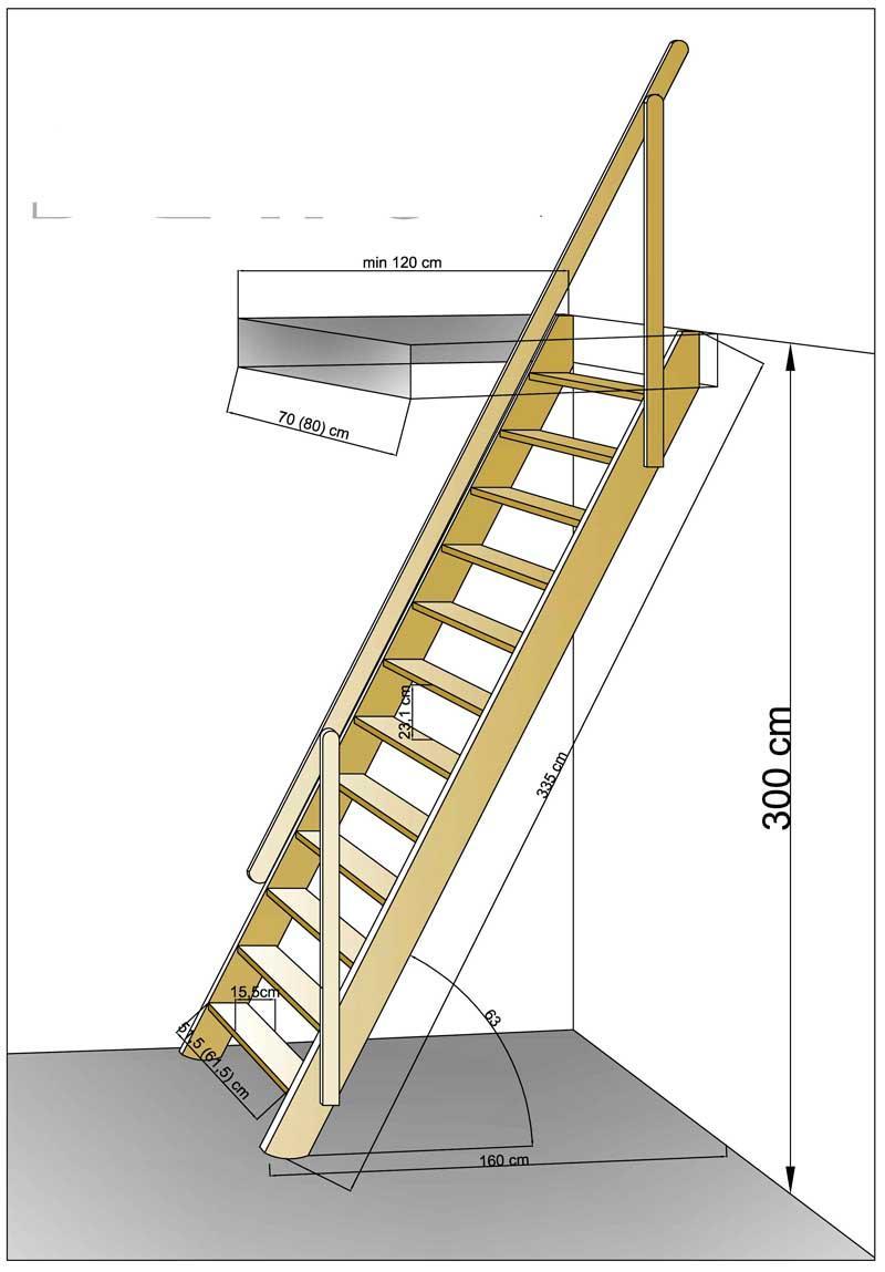 Простейшая прямая лестница, модель «Jano»