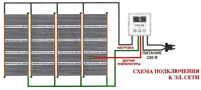 Схема подключения к сети