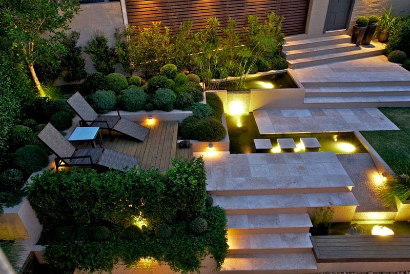 Подсветка позволяет создать таинственный и оригинальный дизайн