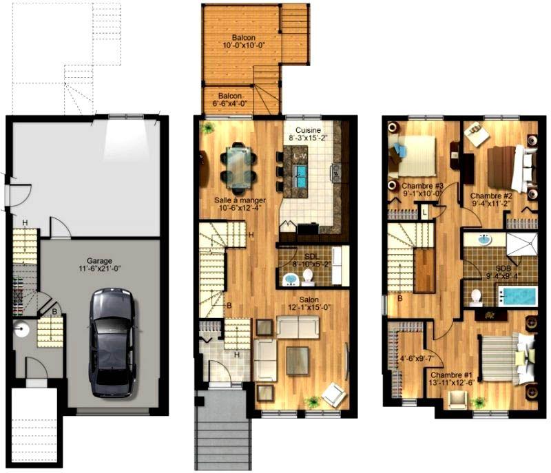 Практичная планировка для каждого этажа