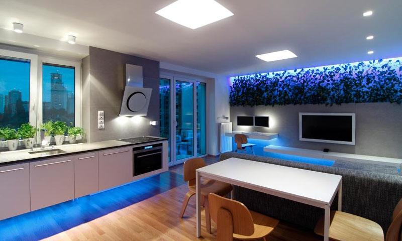 Регулятор освещения помогает зонировать помещение