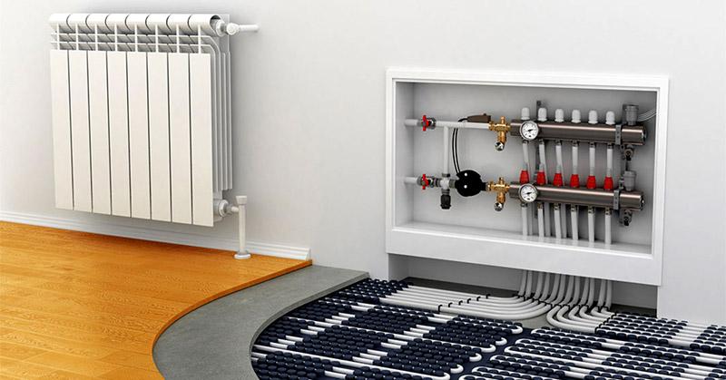 Комбинированная система теплого пола с радиатором