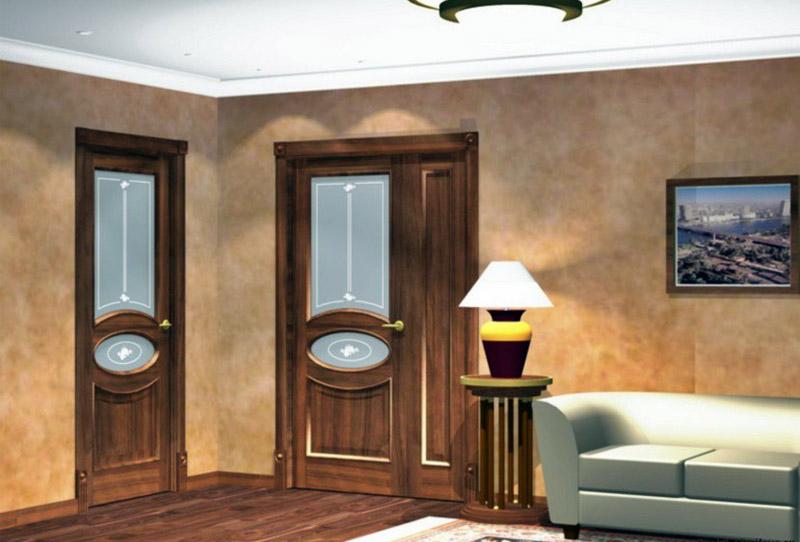В одном помещении использованы два варианта моделей