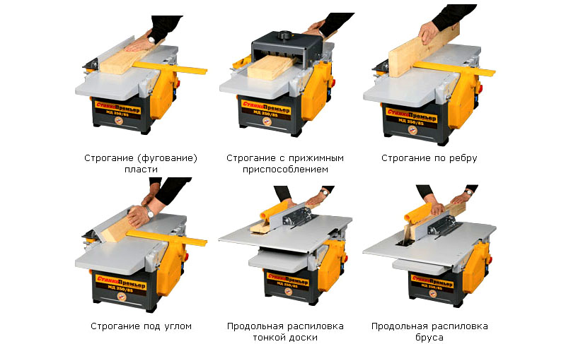 Выполнение различных операций на станке