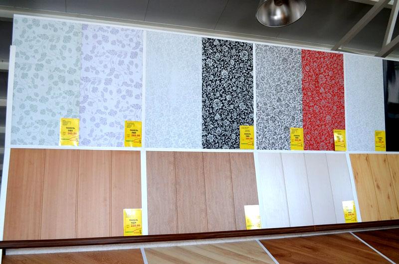 Ассортимент расцветок ПВХ панелей на российских прилавках строительных магазинов довольно широк