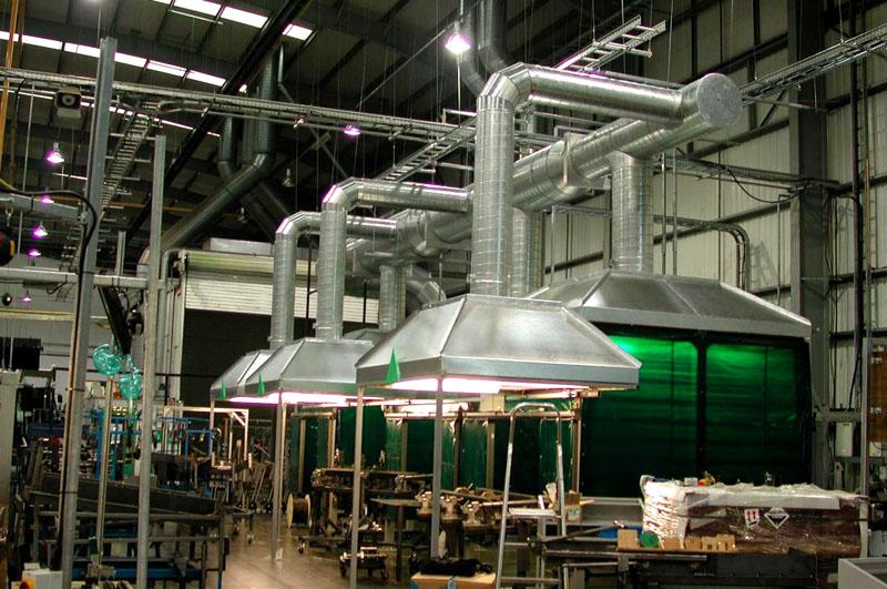Вариант схемы производственной вентиляции