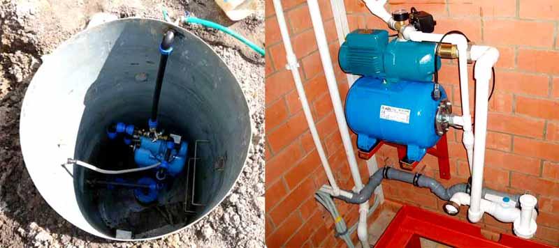 Чтобы увеличить глубину забора воды, насосную станцию устанавливают ближе к нему в специальном утепленном кессоне. Его размер должен быть достаточным для технического обслуживания