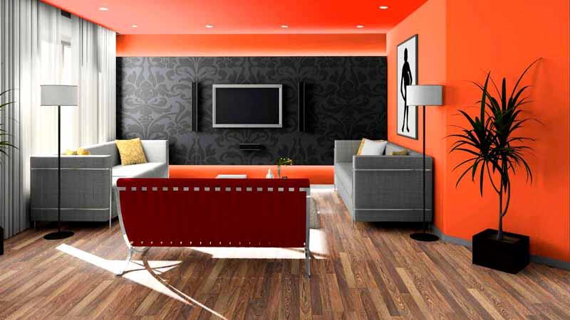 Комбинирование покрытий в большой студии поможет разделить пространство на несколько функциональных зон