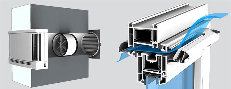 Стеновой и оконный воздушные клапаны