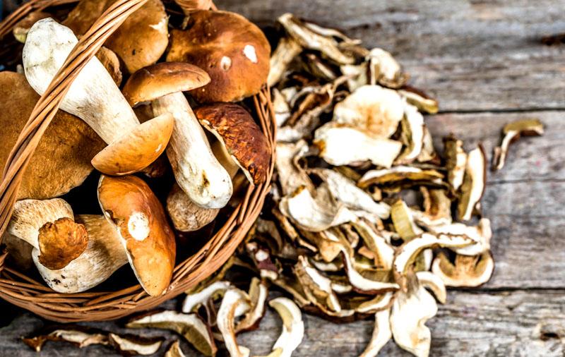 Связки грибов высохнут за сутки, если находятся в сухом теплом помещении