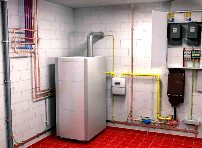 Корпус газового котла, как и металлические трубы, требуют качественного заземления во избежание возникновения искры
