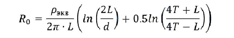 Формула расчета сопротивления стержня