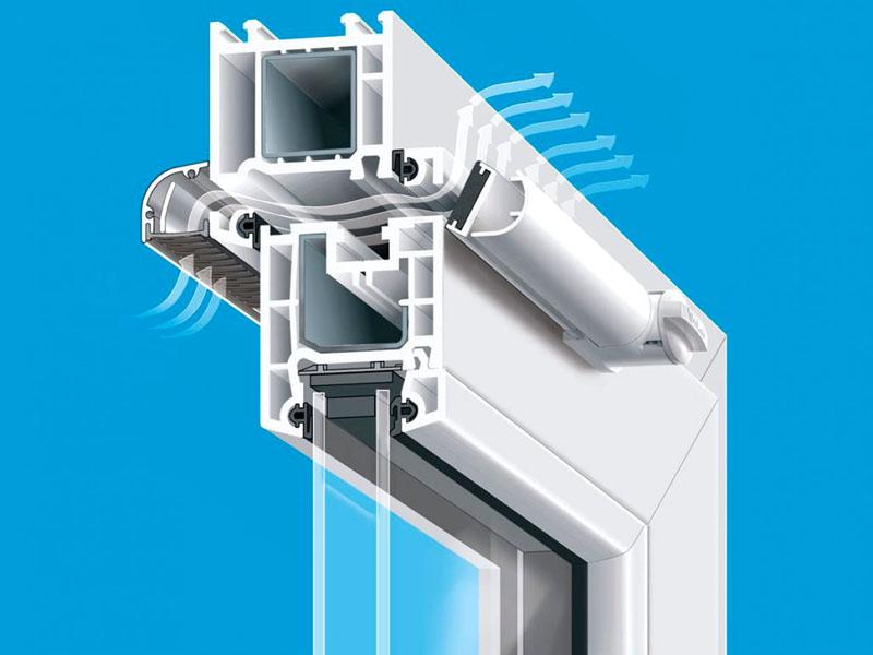 Воздушный клапан, устанавливаемый в конструкцию пластикового окна