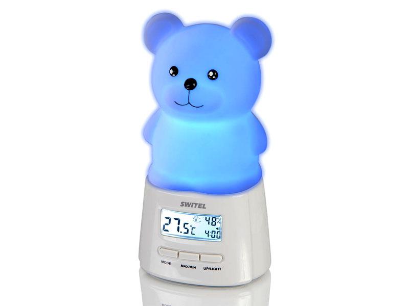 Электронный термометр гигрометр с ночником для детской комнаты