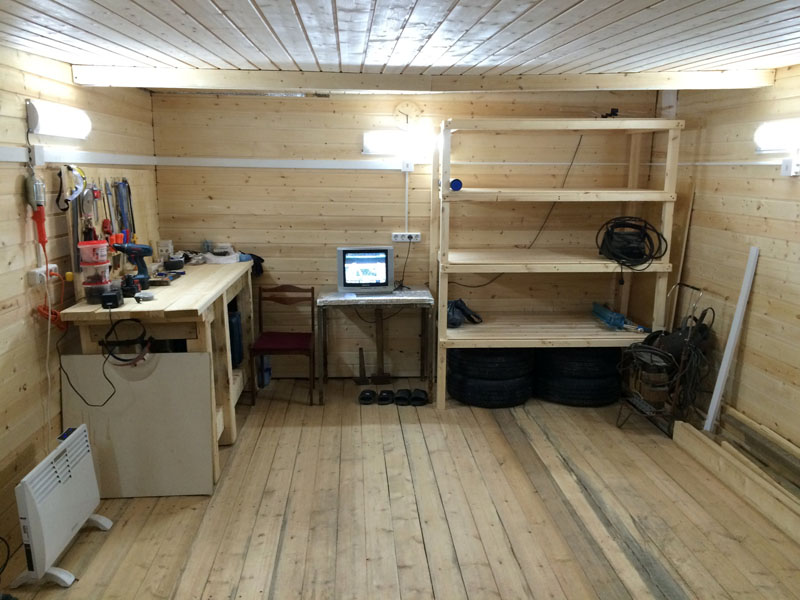 В тёплом гараже может быть достаточно уютно