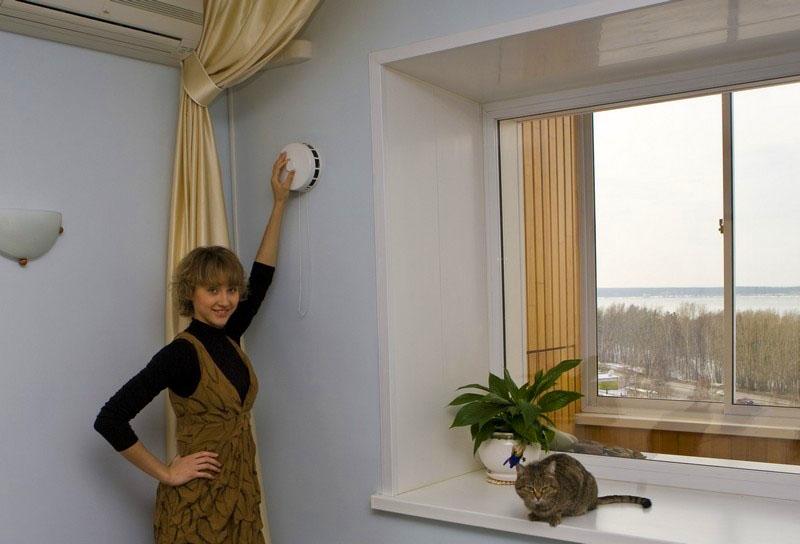 Воздушный клапан в стене в качестве приточного устройства