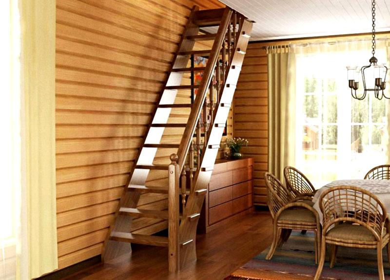 Даже самая простая лестница украсит интерьер помещения