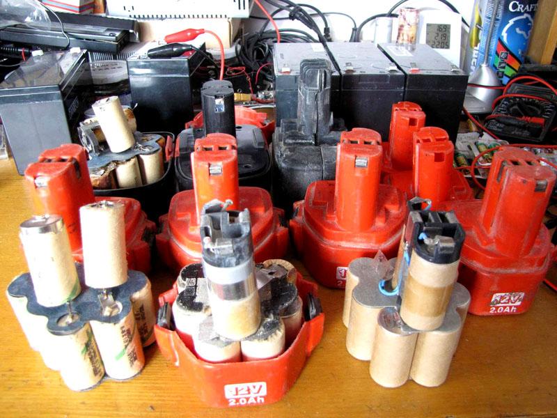 Аккумуляторные батареи для шуруповёртов