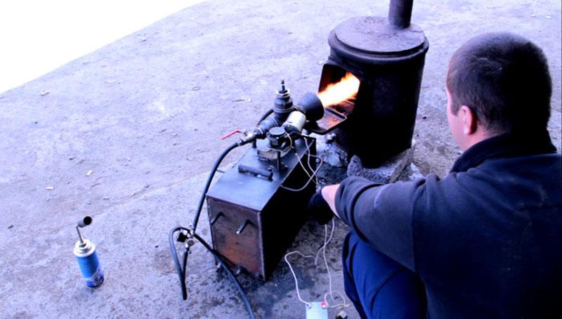 Маленькая печка без камеры дожига