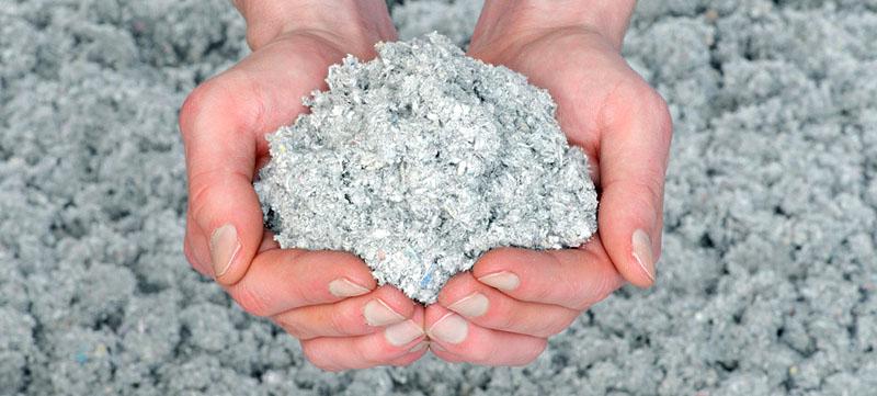 Эковата – утеплитель на основе целлюлозы, напыляемого типа