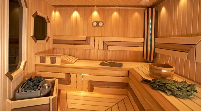 Фото отделки бани внутри